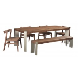 Contemporary Dining Furniture Set- Solid Acacia Wood - Peak