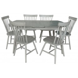 Farmhouse Style Extending Dining Table & 6 Chairs