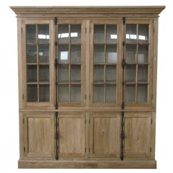 Reclaimed Elm Solid Wood Display Cabinet / Bookcase
