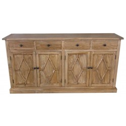 Reclaimed Solid Wood Sideboard - Elm - 4 Drawers - 4 Doors