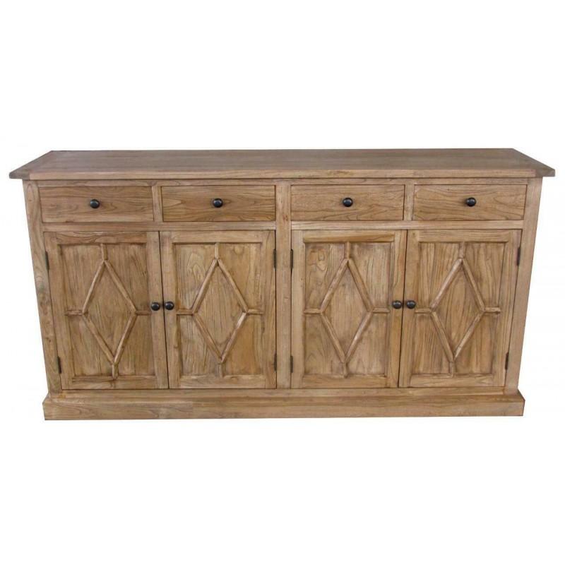Reclaimed Solid Wood Sideboard - Elm - 4 Drawers - 4 Doors