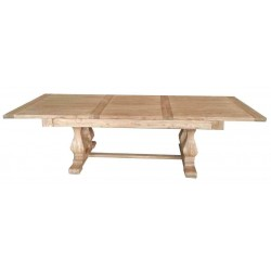 Reclaimed Elm Solid Wood Dining Table - Extendable 300 cm to 380 cm