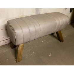 Grey Leather Bench Pommel...