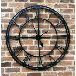 Large Black Wrought Iron...