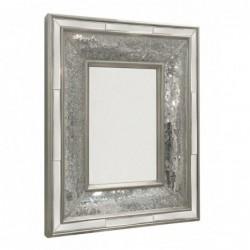 Silver Mosaic Wall Mirror -...