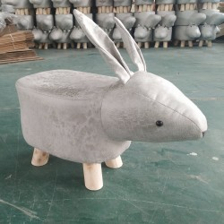 Light Grey Rabbit faux...