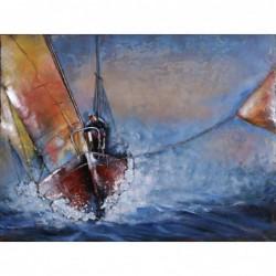 Brown sailing Boat 3D Metal...