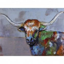 Highland Cow 3D Metal Wall Art