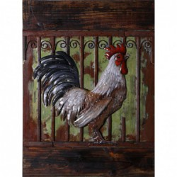 Rooster 3D Metal Wall Art