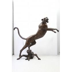 Large Bronze Sculpture of a...
