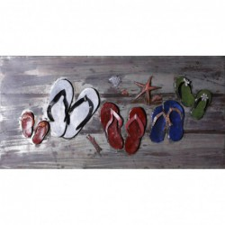 Beach Sandals 3D Metal Wall...