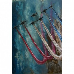 Red Arrows 3D Metal Wall Art