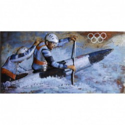 Olympic Canoeists 3D Metal...