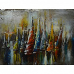 Yacht Race 3D Metal Wall Art
