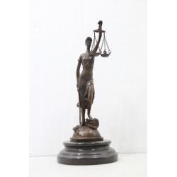 Bronze Statue Lady Justice...