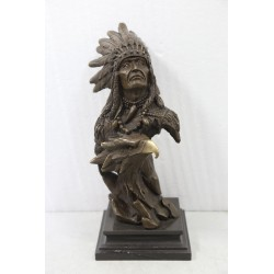 Bronze Bust of a Native...