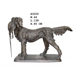 Large Bronze Dog with...
