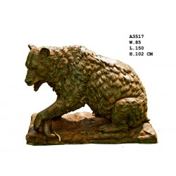 Large Bronze Bear with...