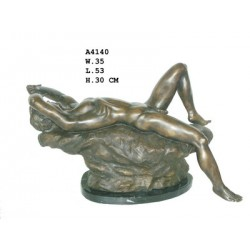 Bronze Laying Naked Male -...