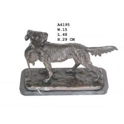 Bronze Dog with Pheasant -...