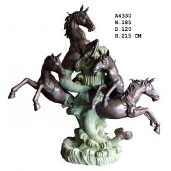 Huge Bronze Sea Horses...