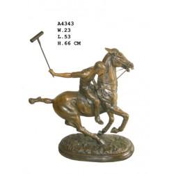Bronze Polo Player - 66cm High