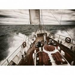 Glass wall art -  Sailing Yacht 80 cm x 120 cm