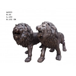 Large Pair of Bronze Lions...