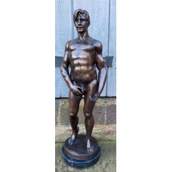 Bronze Standing Naked Male...