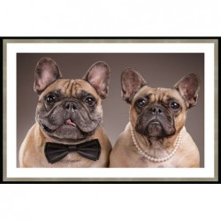 French Bulldogs Framed -...
