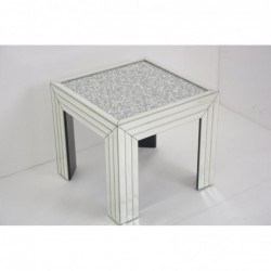 Mirrored Glass Side Table