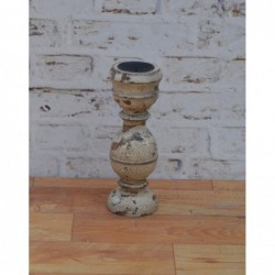 Wooden Candle Stand - 32cm