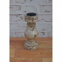 Wooden Candle Stand - 28cm