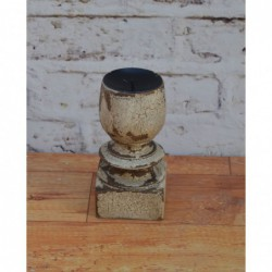 Wooden Candle Stand - 19cm