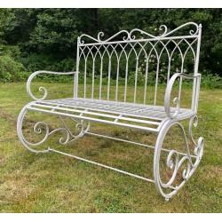 Grey Garden Rocking Bench Seat