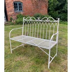 Cream Garden Bench Seat