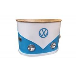 VW Bar White Bumper - Blue