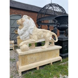Large Pair of Marble Lions...