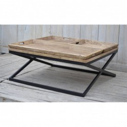 Wooden Coffee Table with...