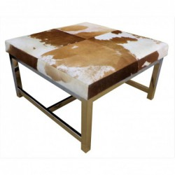 Cowhide Table with...