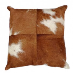 Cowhide Leather Cushion -...