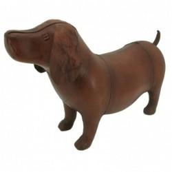 Handmade Leather Dog Footstool