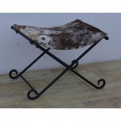 Iron Folding Stool with...