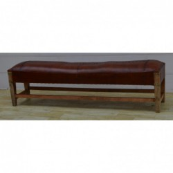 Leather and Wooden Bench...