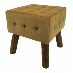 Leather & Canvas Stool /...