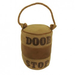 Leather & Canvas Doorstop -...
