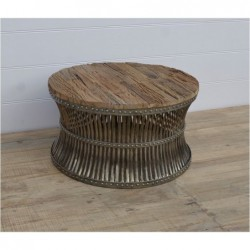 Iron coffee table with Railway sleeper top