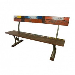 Vintage Iron and Wooden Bench