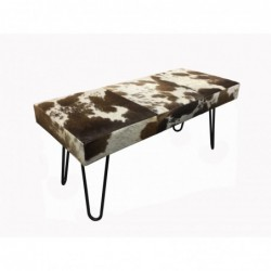 Cowhide Leather bench -...