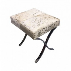 Cowhide Leather Stool -...